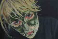 Lesley (Self Portrait) | 50 x 36cm | Oil on Board |  2010